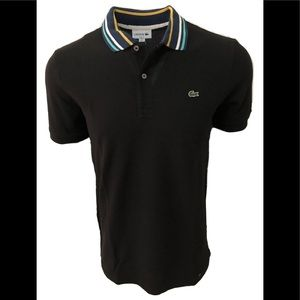 Lacoste Men's Stripe Collar Slim Fit Polo Shirt